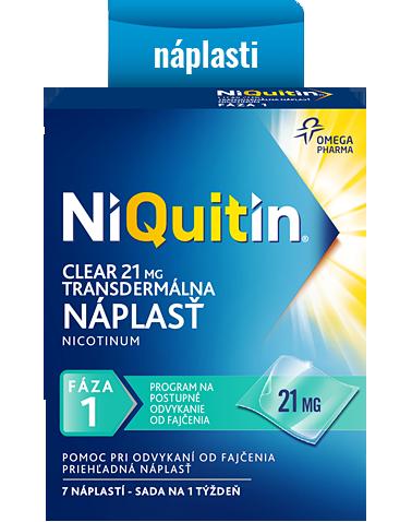 NiQuitin Clear – transdermálna náplasť