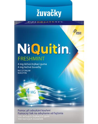 Niquitin Freshmint – liéčivé žuvačky